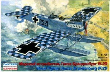 Сборная модель Ганза Брандербург W29 Морской истребитель 1:72