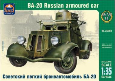 Сборная модель советский легкий бронеавтомобиль БА-20 1:35