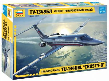Сборная модель учебно-тренировочный самолет Ту-134 УБЛ /20