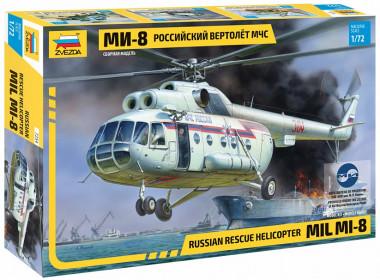 Сборная модель вертолёт Ми-8 МЧС 1:72