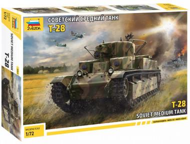 Сборная модель Танк Т-28 1:72