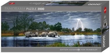 Пазл Стадо слонов Alexander van Humboldt 2000 деталей