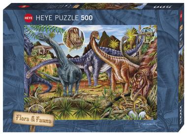 Пазл Травоядные динозавры 500 деталей