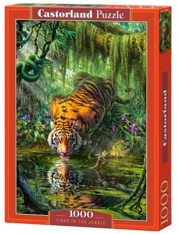 Пазл «Тигр в джунглях». Castorland 1000 элементов