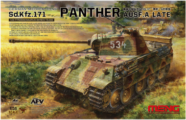 Сборная модель German Medium Tank Sd.Kfz.171 Panther Ausf. A Late Production 1:35