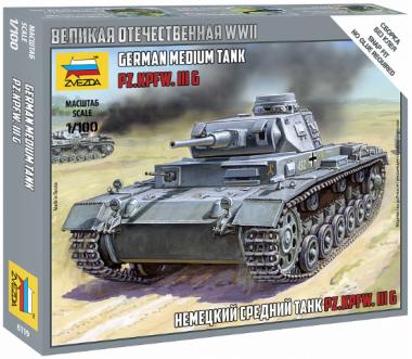 Немецкий средний танк Т-IIIGF 1:100