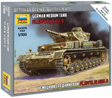 Немецкий танк Т-IV 1:100