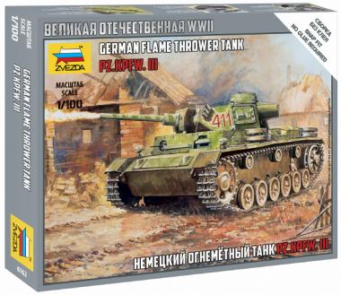 Немецкий огнеметный танк Pz.Kfw III 1:100