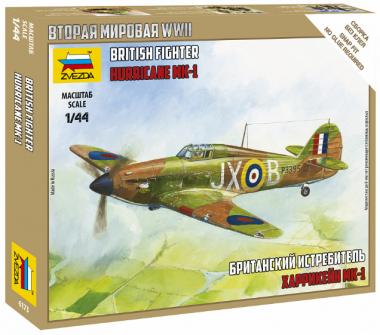 Британский истребитель Hurricane Mk-1 1:144
