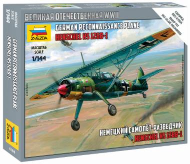 Немецкий самолет Хеншель 1:144