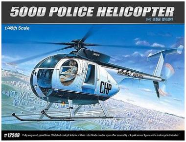Вертолет HUGHES 500D Police Helicopter 1:48