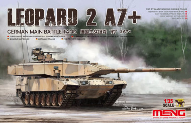 German Main Battle Tank Leopard 2 A7+ 1:35 meng