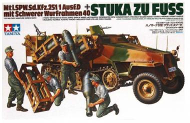 Sd.Kfz. 251/1 Ausf.D STUKA ZU FUSS с 4 фигурами 1:35