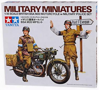 Английский мотоцикл BSA M20 с 2-мя фигурами 1:35
