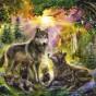 Пазл «Волки». готовый