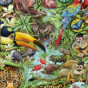 Пазл Обитатели тропического леса 1000 деталей Heye 29617